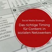 Postingstrategie und Timing
